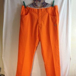 Womens Puma Golf Pants W34xL30 Orange NWT $85